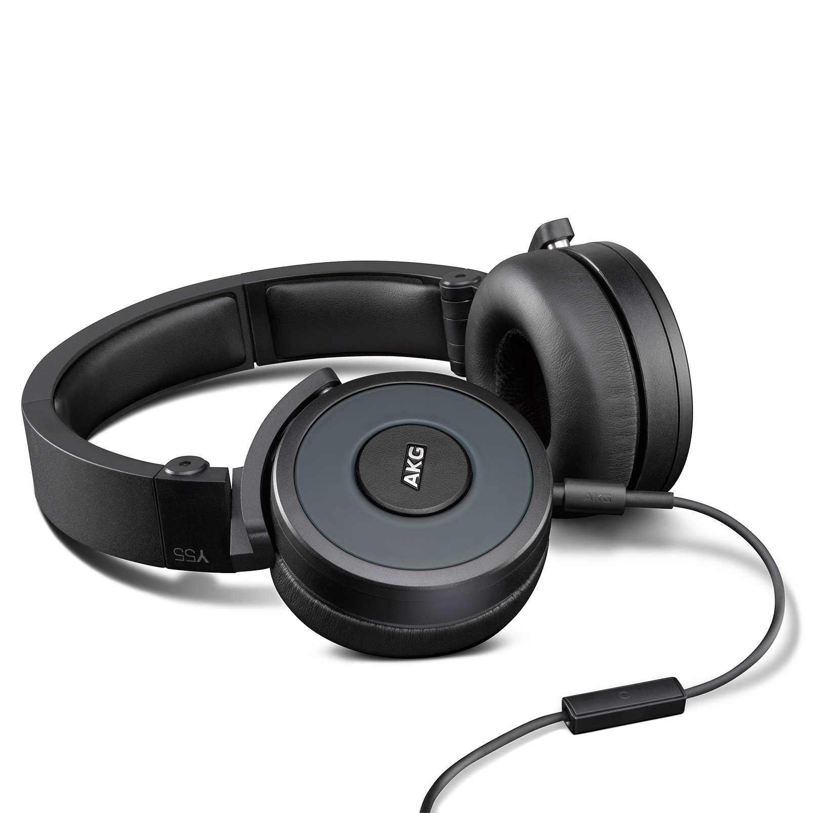 Y55 - Black - High-performance DJ headphones with in-line microphone and remote - Detailshot 1
