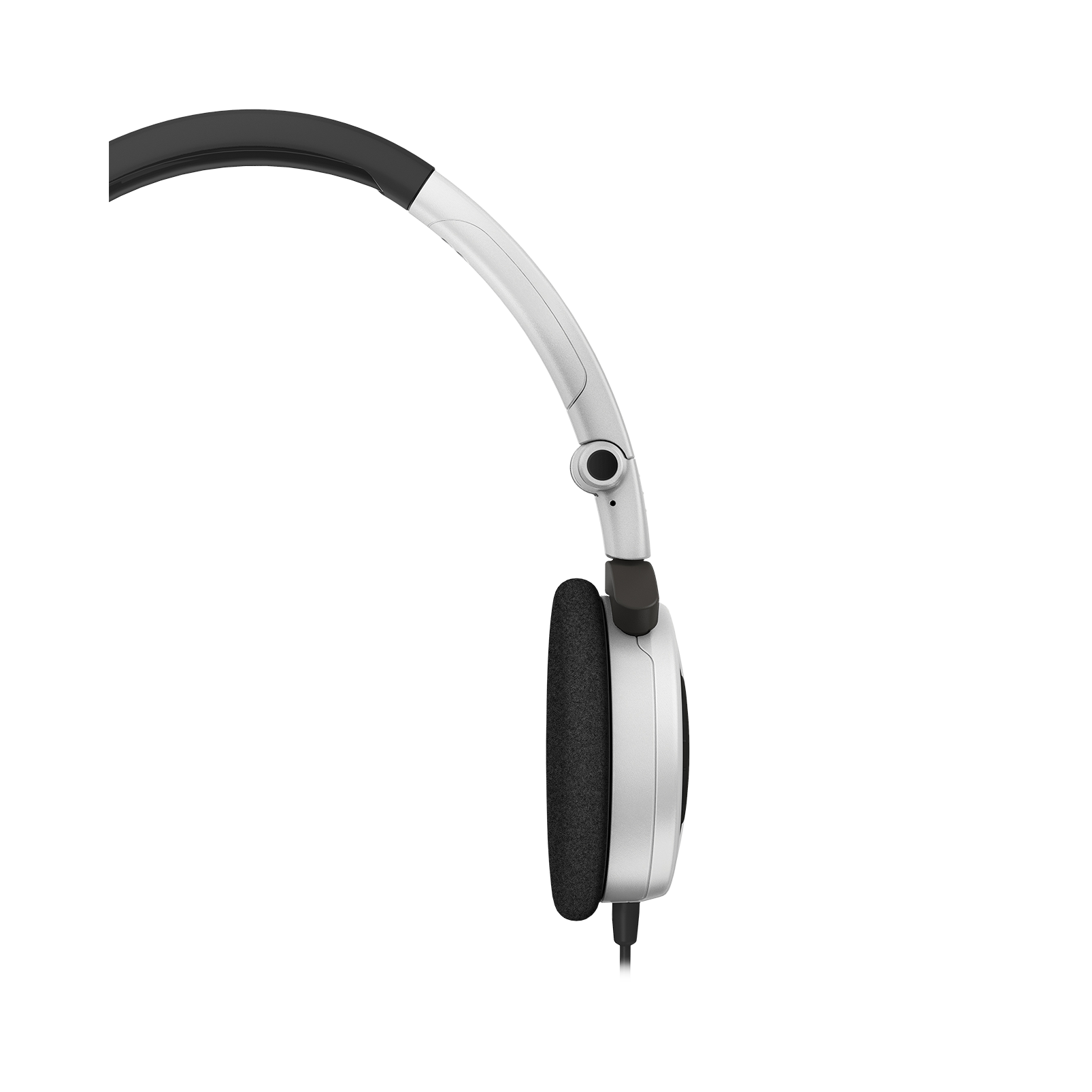 Y 30 - White - Stylish, uncomplicated, foldable headphones with 1 button universal remote/mic - Detailshot 2