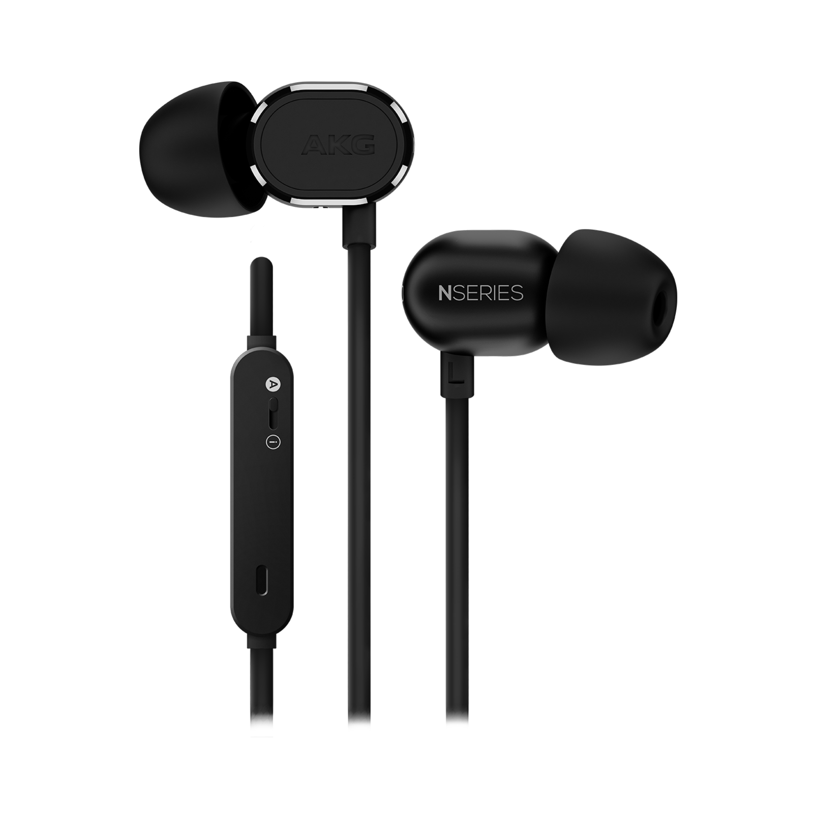 N20U - Black - Reference class in-ear headphones with universal 3 button remote. - Hero